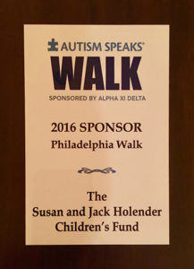 Susan and Jack Holender at the Autism Speaks Walk