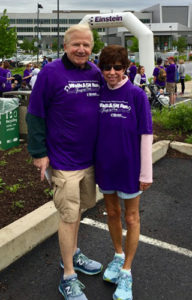 Susan and Jack Holender at the Einstein 5K Run & Walk Through the Park